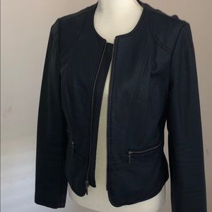 Never worn Limited L faux leather jacket -